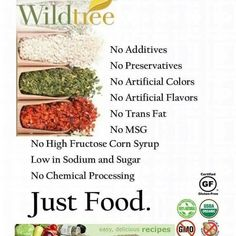 Wildtree is a personalized recipe and menu planning website with organic, GMO free products available for purchase! Organic Recipes, Raw Food Recipes, Cooking Recipes, Healthy Recipes, Nutritional Supplements, Low Sugar, Menu Planning, Eating Habits, Meals