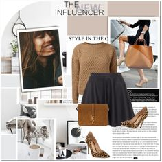 A fashion look from January 2015 featuring Joie mini skirts, Gianvito Rossi pumps and Yves Saint Laurent shoulder bags. Browse and shop related looks.