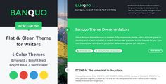 Banquo Theme for Ghost blogging platform