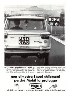Pubblicità Advertising 1965 MOBIL olio benzina Fiat, Vehicles, Car, Vehicle, Tools