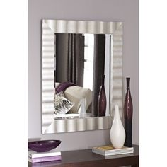 style selections x silver polished rectangle framed french. Black Bedroom Furniture Sets. Home Design Ideas