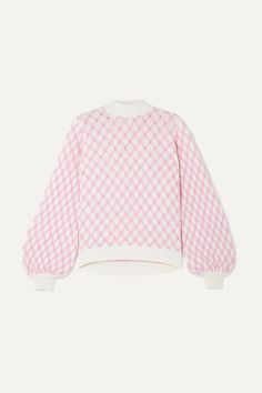 Stine Goya Carlo Cable Knit Wool-blend Sweater - P Pastel Fashion, Colorful Fashion, Kawaii Clothes, Cable Knit Sweaters, Mode Inspiration, Pink Sweater, Pullover, Look Cool, Wool Blend