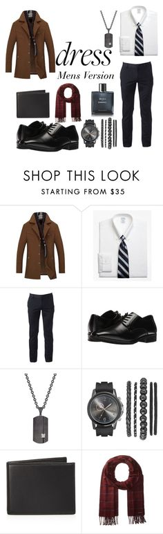 """""""Dress Men's Version"""" by naudiawilliams8 ❤ liked on Polyvore featuring Brooks Brothers, Urban Pipeline, Stacy Adams, Rhona Sutton, The Men's Store, Ted Baker, Chanel, men's fashion and menswear"""