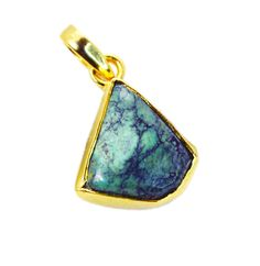 Turquoise Gold Plated Fashion Gemstone Pendant. Gemstone Name -Turquoise. • Our Range includes Silver Jewelry ( Silver rings, Silver Earrings, Silver pendant, Silver Bracelet, Silver Necklace ).