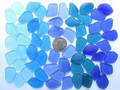 Aqua Green Teal Mixed Freeform Pebble Beach Sea Glass Frosted Pendants Q6