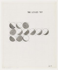 LEANDRO KATZ - Two Legged Sky, 1979. Graphite on graph paper, 10 1/4 x 8 1/4 in. (26 x 21 cm.)