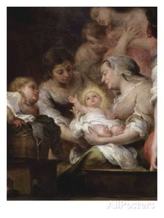 The Birth of the Virgin, Painted for the Chapel of Saint Paul at Seville Cathedral, 1661, Detail Giclee Print by Bartolome Esteban Murillo at AllPosters.com