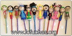La Vecindad del Chavo Del 8 In fofulapiz (pencil Toppers) Handmade characters using foam sheets. Can make super cute birthday favors. Includes characters : El Chavo,La Chilindrina,Don Ramon,Doña Cleotilde, Doña Florinda,Kiko,Ñoño,Don Barrigas,Godinez,Jaimito,El Profesor Jirafales,Popis like us at www.facebook.com/fofuchashandmadedolls . #el chavo del ocho #crafts #fofuchas