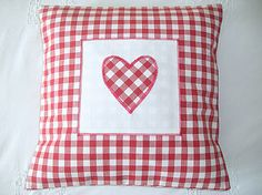 Gingham Heart Cushion Cover - Various Colours by glitter-pink £21.99
