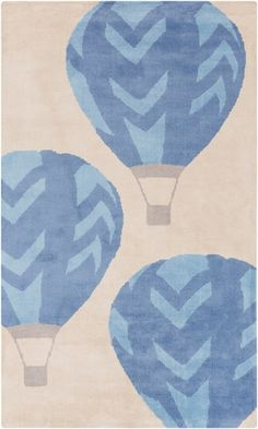 Be swept away with the charm and whimsy of this hot air ballon themed rug. From the Abigail Collection by Surya. Printed Balloons, Blue Balloons, Furniture Mall Of Kansas, Interior Design Guide, Childrens Rugs, Nursery Themes, Nursery Rugs, Nursery Ideas, Room Ideas