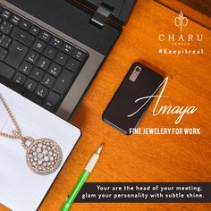 Amaya Collection: Shine out the best on your day. #OfficeJewelry #Formals #Simple #Stylish #Elegant #Designer #Earrings #Ring #Pendant #Necklace #Couture #DesigneraJewelry #Diamond #Gold #JewelryJunkie