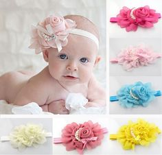 Baby Floral Headband - 13 Colors!
