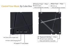 Altavoz Portátil Bluetooth, ESYNiC Mini Altavoz Estéreo Inlambrico Bluetooth 4.0 Altavoz con Bateria del Cubo Mágico Reproductor de Música con Colores LED Light-Mini Altavoz para el iPhone SE 6S 6 Plus 5S iPad Pro Aire2 Samsung Galaxy S6 S5 HTC M8 Sony y otros Tablet PC: Amazon.es: Electrónica