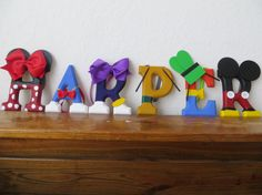 Mickey and Friends Letter Art by TheLetterBug on Etsy, $10.00