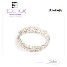 Bracelet EMMA 3  Spiral faceted crystal bracelet. Smokey grey. 1.100,00 Ksh http://www.federicafashion.com/it/ep67/bracelet-emma-3/ http://www.jumia.co.ke/federica-fashion/