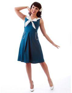 429c869abb9 Rock Steady Pin Up VLV Retro Rockabilly 50s Sailor Sun Dress Mad Men Style