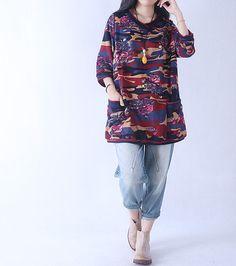 【Fabric】 Cotton 【Color】 Photo Color 【Size】 M; Shoulder 37cm Bust 100 cm Sleeve 38 cm Great arm circumference 38cm Cuff around 32cm Length 78 cm Hem 130cm  L; Shoulder 38cm ...