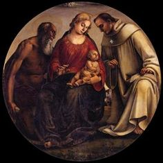 Virgin and Child with Sts Jerome and Bernard of Clairvaux - Luca Signorelli