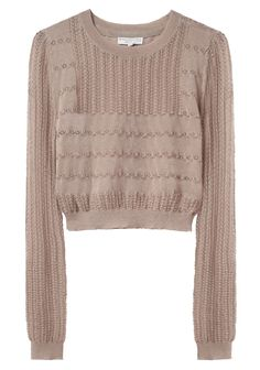 because this is appropriate for summertime in seattle...  Opening Ceremony / LACE KNIT TOP