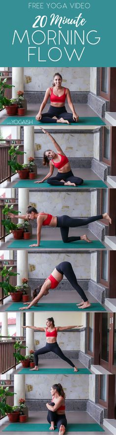"""A simple, gentle and quick (only 20 minutes!) morning yoga flow to add to your routine. Give yourself some much needed """"you-time"""" before you start your day!"""