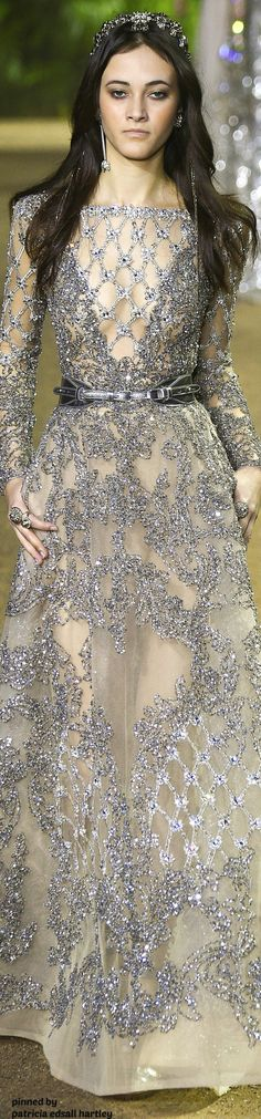 Elie Saab Spring 2016 Couture Fashion Show Elie Saab Couture, Style Couture, Couture Fashion, Runway Fashion, Fashion Show, Paris Fashion, Beautiful Gowns, Beautiful Outfits, Gorgeous Dress