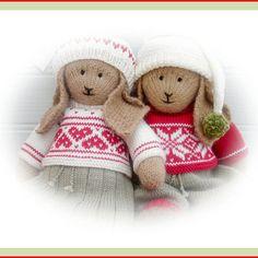 BO & ANIKA Rabbit 2 PDF Email Toy Knitting... - Folksy