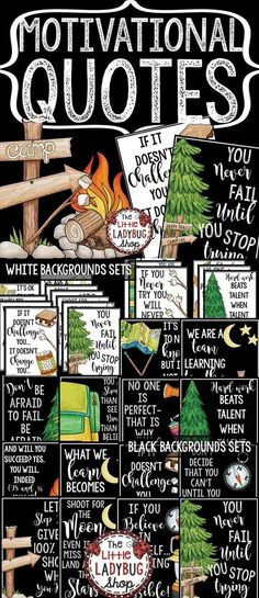 Camping Theme Classroom Decor- Motivational Posters & Growth Mindset Posters - Decoration For Home Classroom Door, Classroom Design, Future Classroom, Classroom Themes, Classroom Organization, Classroom Camping Theme, Camping Room, Classroom Libraries, Classroom Management