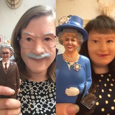 Carrie thinks she's the queen around here but we all know Libby is the brains behind it all! #cambridge #work #funny #snapchat #faceswap #queen #einstein