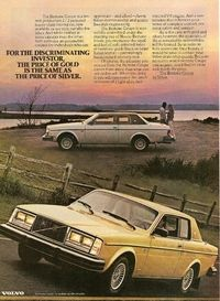 1979 Volvo Bertone Ad: For the Discriminating Investor