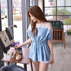 Buy 'Cherryville – Lace-Panel Drawstring-Waist Tunic' with Free International Shipping at YesStyle.com. Browse and shop for thousands of Asian fashion items from South Korea and more!