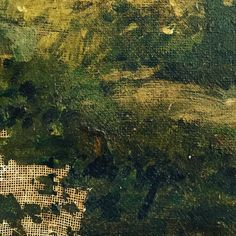 #oil#green#paint#landscape#layers #impasto #trees#glade#forest#colourstories #studio #london #voyage#