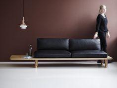Contemporary sofa / solid wood / oak / walnut - PLANK by Knudsen/Berg/Hindenes&Myhr - Diy Sofa, Diy Daybed, Leather Sectional Sofas, Leather Sofa, Sofa Design, Chaise Longue Diy, Plank, Sofa Furniture, Furniture Design