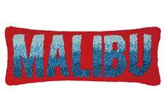 Malibu Beach Decor Hook Pillow :: All Beach Decor Pillows :: Beach Decor Accent :: By The Sea Decor - Beach Decor Mid Size Car, Pillow Inspiration, Design Inspiration, Malibu Beaches, Cotton Velvet, Coastal Style, Cotton Pillow, Corporate Gifts, Decorative Pillows