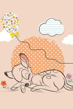 How adorable is this free print to decorate your baby's room?