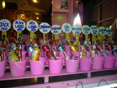 Buckets at the legendary Full Moon Party in #thailand.