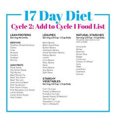 27 day diet cycle 1