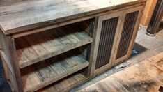 Your Custom Made Rustic Barn Wood Vanity With Doors And Shelves, Cabinet, Or…