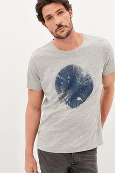 Cortefiel Printed t-shirt Gray