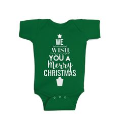 Screen Printed on a Super soft onesie so they can we worn year round! Christmas Onesie, Merry Christmas, We Wear, Screen Printing, Wish, Onesies, Prints, Clothes, Products