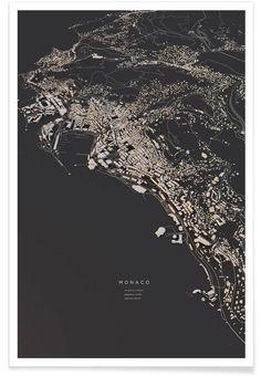 Monaco city map Art Print by luisdilger Art Prints Online, Fine Art Prints, Bel Art, City Layout, Architecture Graphics, Architecture Models, Plakat Design, Poster Online, Map Design