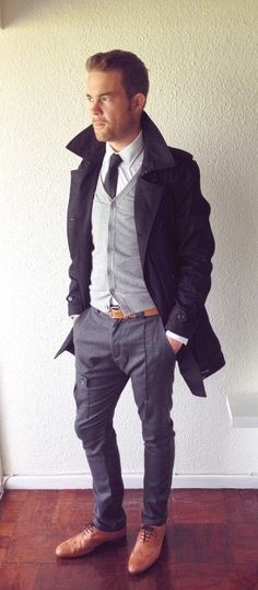 Pant with Cardigan & overcoat Perfect winter outfit for men