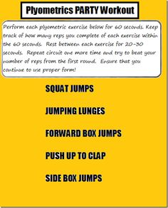 Plyometrics Pa  Plyometrics Party Workout