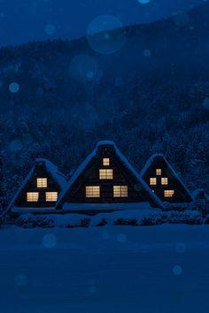 madishy: A snow day by Hiroshi Takaba | C'est beau la bourgeoisie | via Tumblr #night  #sweden