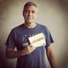 George Clooney's @Instagram for @NPR. Great pic, and likely quite effective.