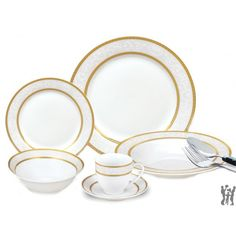Lorenzo 24 Piece Porcelain Dinnerware Set from Avarietyofgifts.com