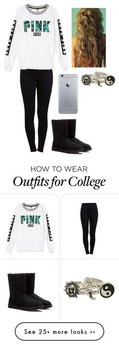 Untitled #553 by lauryn-benge on Polyvore featuring Pieces and UGG Australia