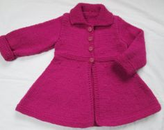 Baby Wrap Sweater Pattern,Knit from cuff to cuff | Baby Girls Toddler Sweater Coat Ha nd Knit Size 2T From a Vintage ...