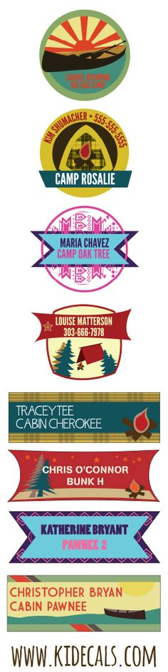 #ad Crazy durable waterproof name labels for #camp from @kidecals! Perfect for clothing or gear. #labelitdontloseit