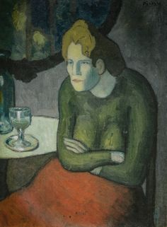 Pablo Picasso - The Absinthe Drinker, 1901(Kunstmuseum Basel Switzerland) at Gauguin-to-Picasso Exhibit - Philllips Collection Washington DC (Exhibit Catalog Book)