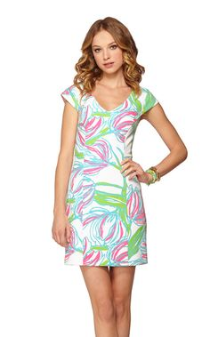 """Desiree Cap Sleeve Sheath Dress - Did anyone else see Cameron from """"Southern Charm"""" in this adorable Lilly dress on Bravo's """"Watch What Happens: Live"""" with Andy Cohen? So cute. Love the colors! I must have this  dress. :)"""